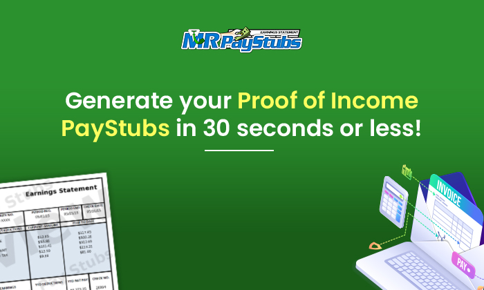 generate proof of income paystubs in 30 seconds