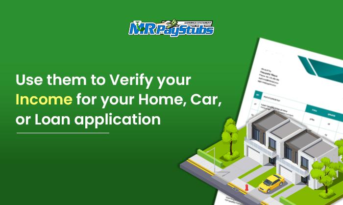 verify income for home car loan application